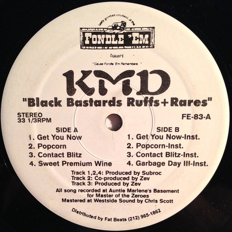 KMD - Black bastards ruffs and rares EP
