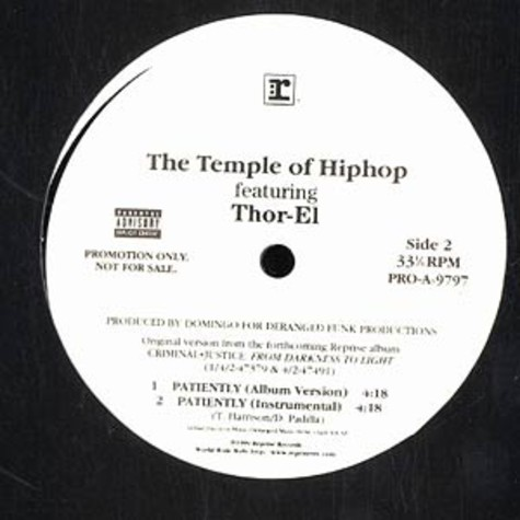 Temple Of Hiphop, The - Patiently feat. Thor-El