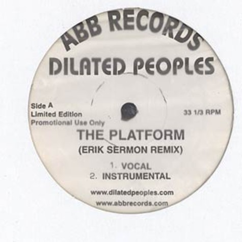 Dilated Peoples - The platform Erick Sermon remix