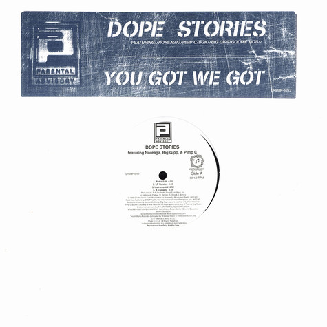 Parental Advisory - Dope stories feat. Noreaga & Goodie Mob