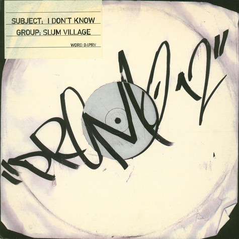Slum Village - I don't know