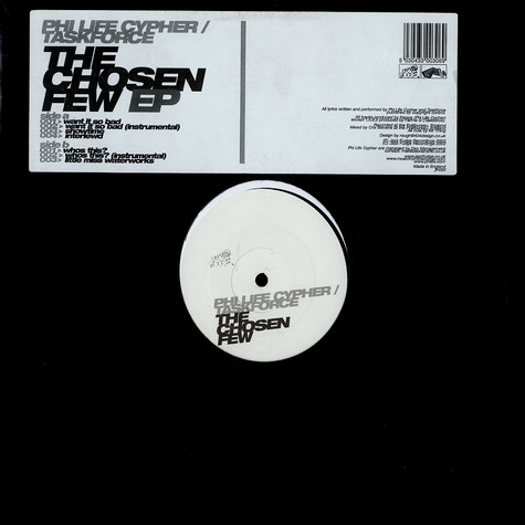 Phi-Life Cypher / Task Force - The Chosen Few EP