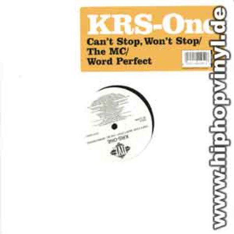 Krs One - Can't stop, won't stop