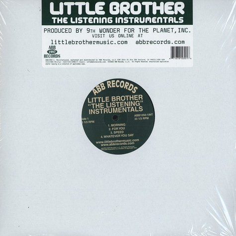 Little Brother - The Listening Instrumentals