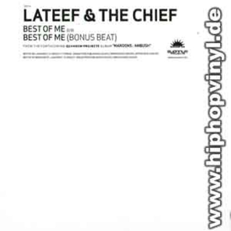 Lateef & The Chief (Maroons) - Best of me