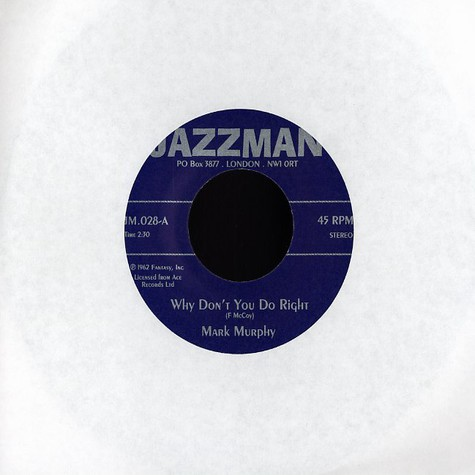 Mark Murphy / Eddie Jefferson - Why don't you do right / psychedelic sally