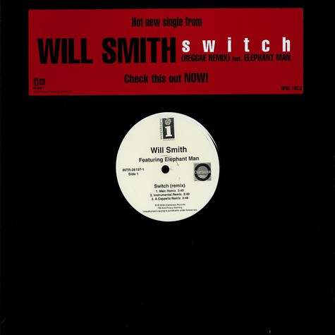 Will Smith - Switch remix feat. Elephant Man