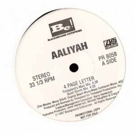 Aaliyah - 4 Page Letter