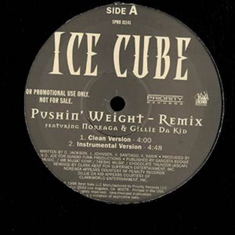 Ice Cube - Pushin weight Remix feat. Noreaga