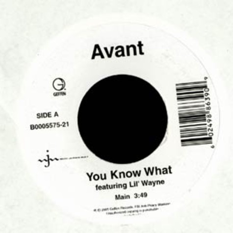 Avant - You know what feat. Lil Wayne