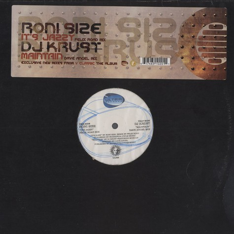 Roni Size / DJ Krust - It's jazzy ( Felix Road mix) / maintain (Dave Angel mix)