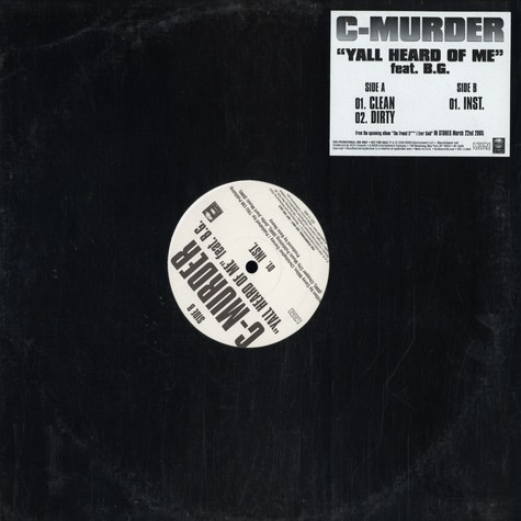 C-Murder - Yall heard of me feat. B.G.