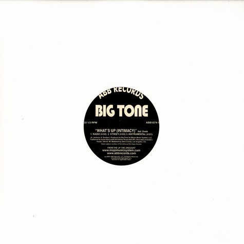 Big Tone - What's Up (Intimacy) Feat. Dwele