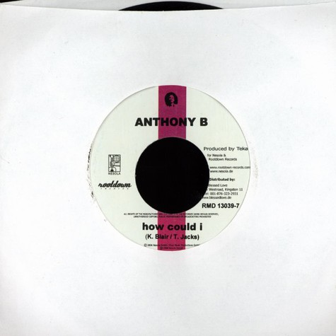 Anthony B / Nosliw - How i could / allerletzte Chance