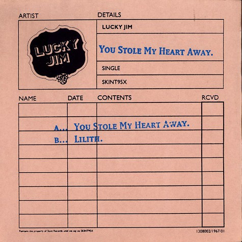 Lucky Jim - You stole my heart away