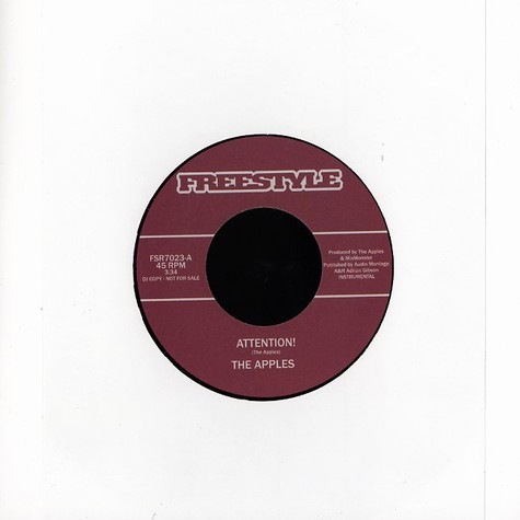Apples, The / The Quartertones - Attention / caffeine DJ Format's getaway version