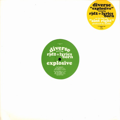 Diverse - Explosive feat. RJD2 & Lyrics Born