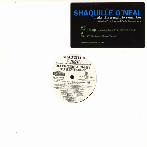 Shaquille O'Neal - Make this a night to remember feat. Peter Gunz & Public Announcement
