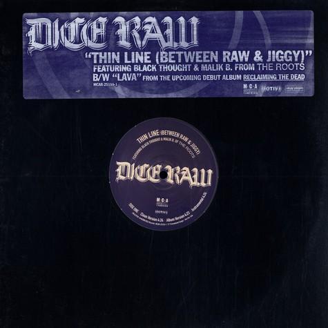 Dice Raw - Thin line (between raw & jiggy) feat. Black Thought & Malik B.