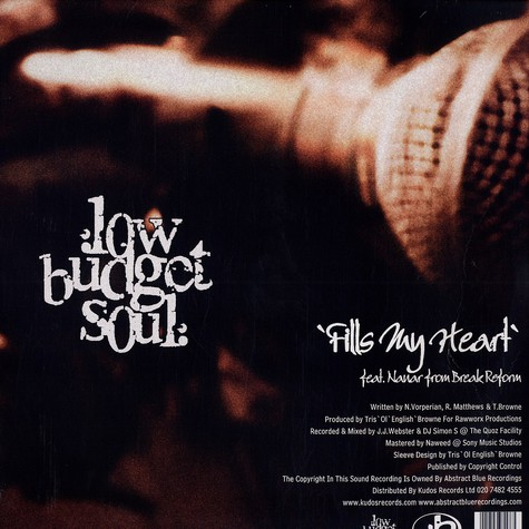 Low Budget Soul - Fills my heart feat. Nanar of Break Reform
