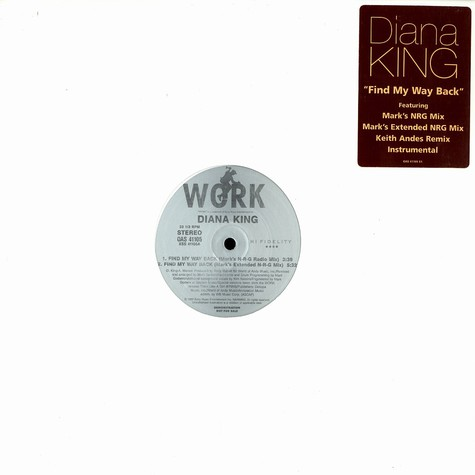 Diana King - Find my way back