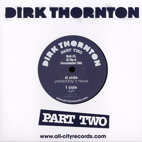 Dirk Thornton (Buck 65 & O Liffey Cousins) - Yesterday's news