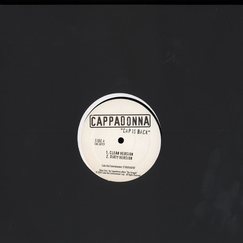 Cappadonna - Cap is back