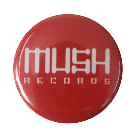 Mush records - Button red / white