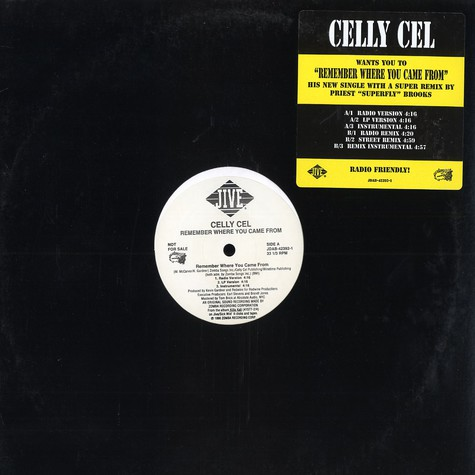 Celly Cel - Remember Where You Came From