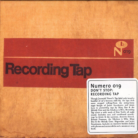 Don't Stop - Recording tap