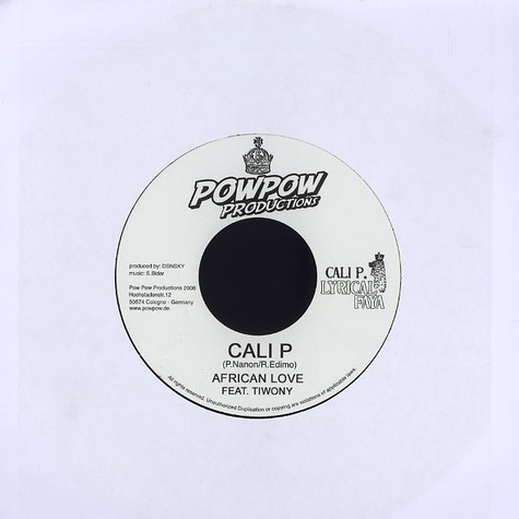 Cali P - African love feat. Tiwony