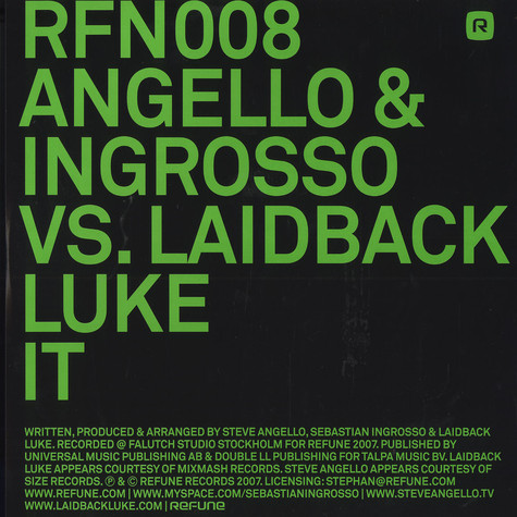 Angello & Ingrosso Vs. laidback Luke - It