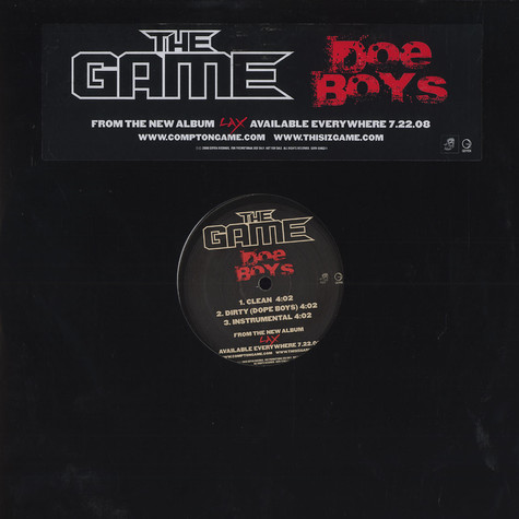 Game, The - Doe boys (dope boys)