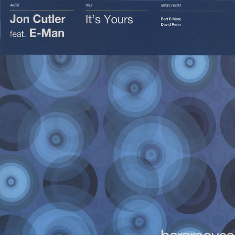 Jon Cutler - It's yours feat. E-Man