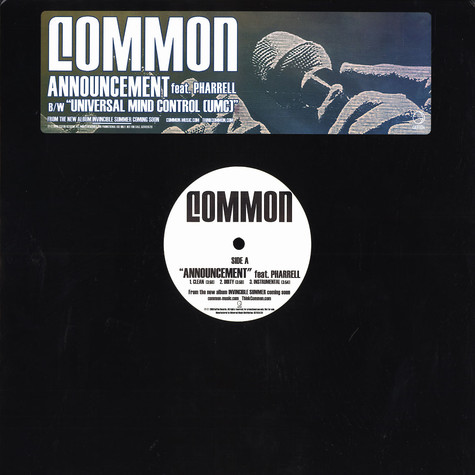 Common - Announcement feat. Pharrell Williams