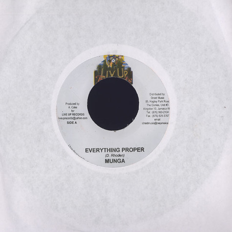 Munga / Einstein - Everything proper / jump up
