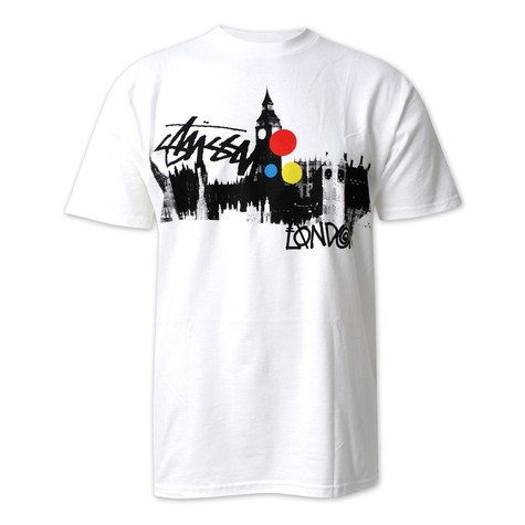 Stüssy - London clocktower T-Shirt