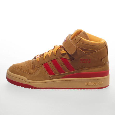 pretty nice bd8ef 4a6db adidas - Forum mid NBA 5 Great Moments Pack - Houston Rockets (Wheat  Red   Gold)  HHV