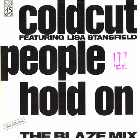 Coldcut - People hold on feat. Lisa Stansfield Blaze Mix