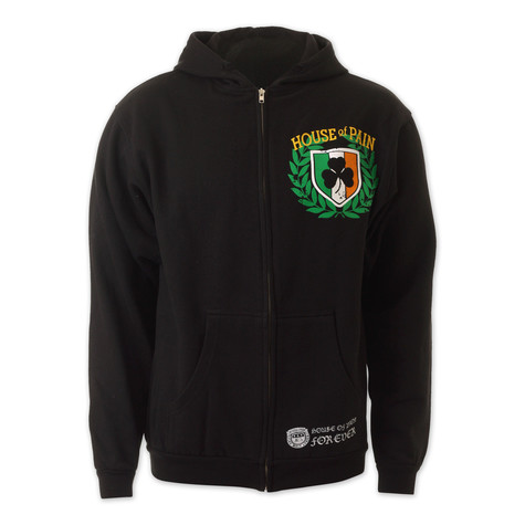 House Of Pain - Crest distress zip-up hoodie
