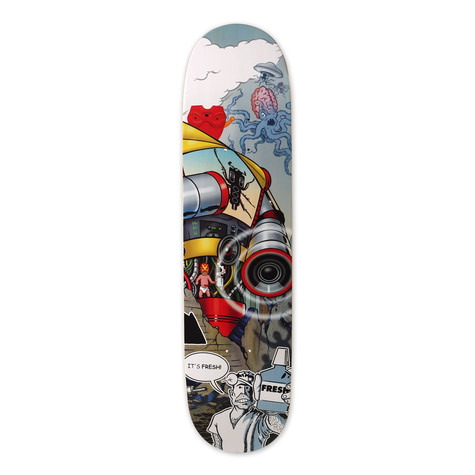 Thudrumble / DJ Qbert - Wave twister skateboard deck