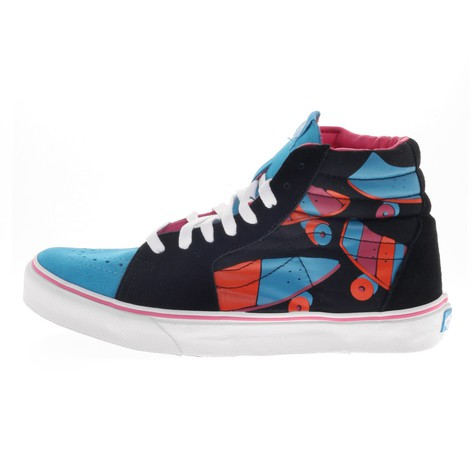 3fdfc987228c1c Vans x Parra - Sk8-Hi (Black   Blue   Pink   Orange)
