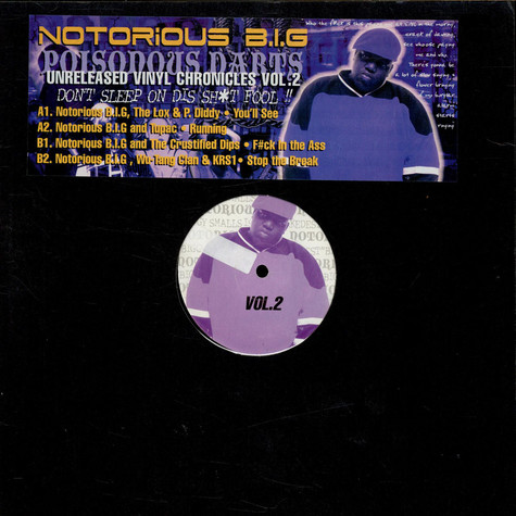 Notorious B.I.G. - Poisonous Darts - Unreleased Vinyl Chronicles Volume 2