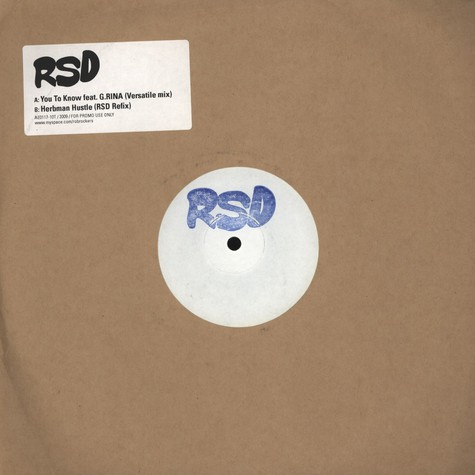 RSD - You To Know feat. G.Rina Versatile Remix
