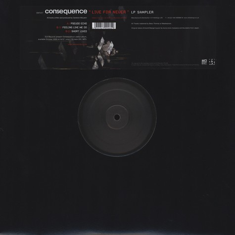 Consequence - Live For Never LP Sampler