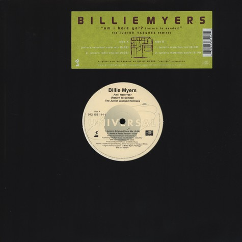 Billie Myers - Am I Here Yet?