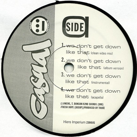 Casual - We don't get down like that