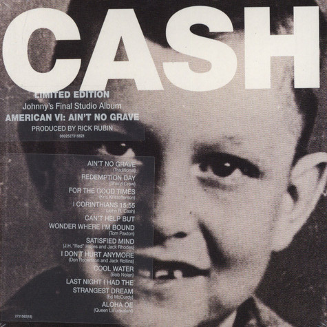 Johnny Cash - American VI - Ain't No Grave Limited Edition Digi Pack