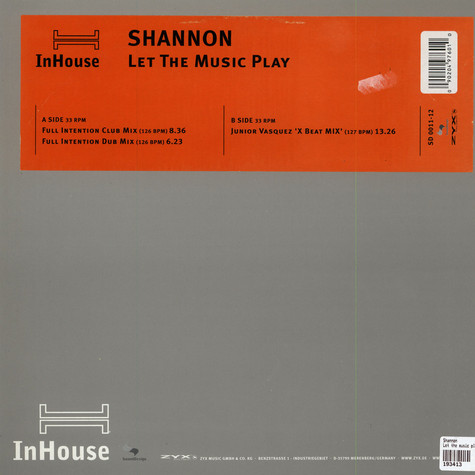 Shannon - Let the music play house remix