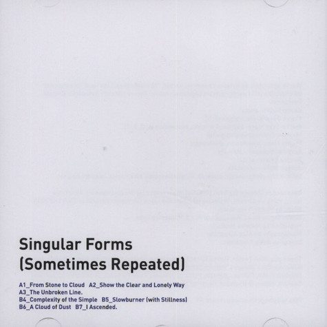 Sylvain Chauveau - Singular Forms (Sometimes Repeated)
